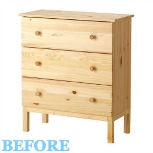 Before and After: A Basic Ikea Dresser Gets Some Personality