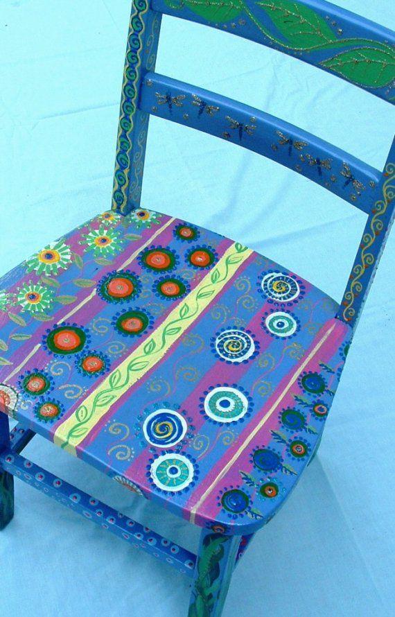 Spring Garden Chair by maryjostudio on Etsy, $100.00