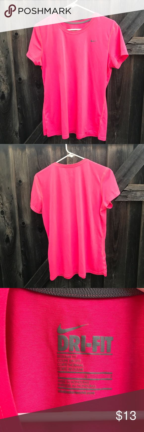 Nike Dri Fit women's tank top Nike Dri Fit women's work out top Pink Size large Length 26.5 Armpit to armpit 20.5 Shoulder to shoulder 16 C5 Nike Tops Tees - Short Sleeve