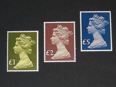 Stamp Pickers Great Britain 1977 Machins £ Lot Scott #MH169, MH175-76 MNH