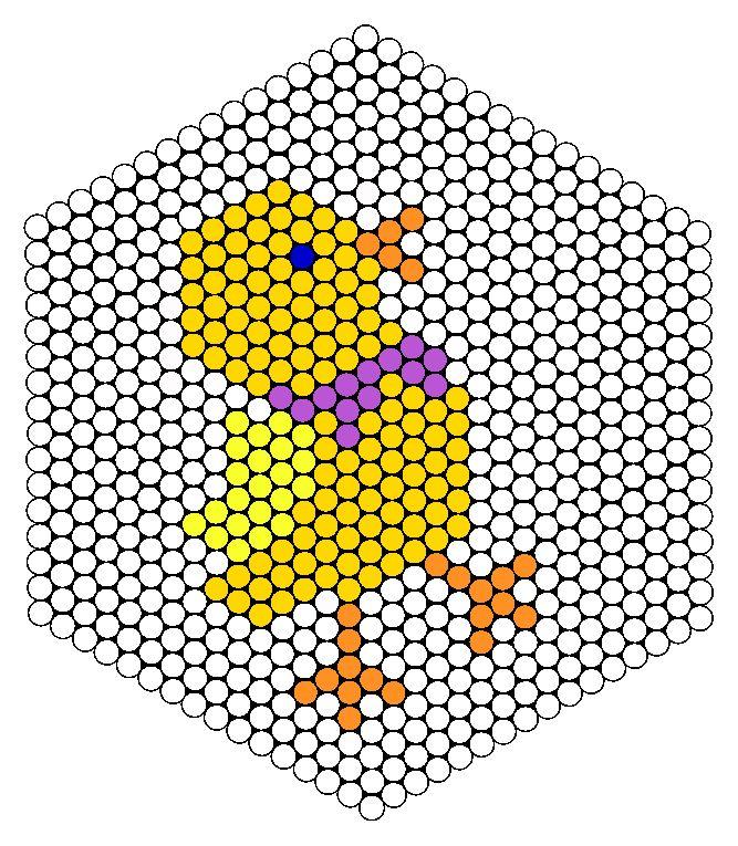 Easter Chick Perler Bead Pattern