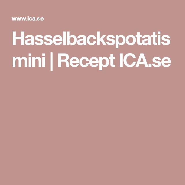 Hasselbackspotatis mini | Recept ICA.se
