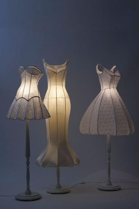 Dress lamps - What a cute idea!