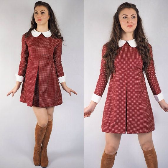 1960's Reproduction Mod Dress Suzy Bishop by VioletHouseClothing