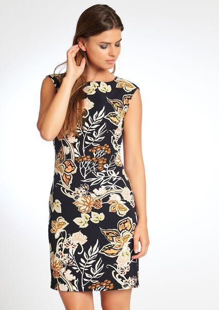 Robe sans manches imprimé floral,