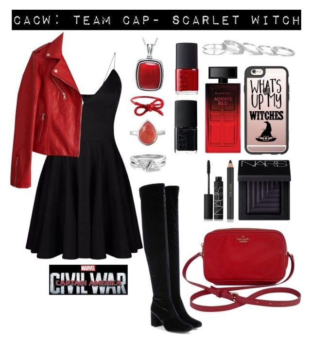 """Captain America Civil War- 5"" by mystic-punk ❤ liked on Polyvore featuring Yves Saint Laurent, Kate Spade, Estée Lauder, NARS Cosmetics, Casetify, Areaware, BillyTheTree, Elizabeth Arden, Kendra Scott and contestentry"