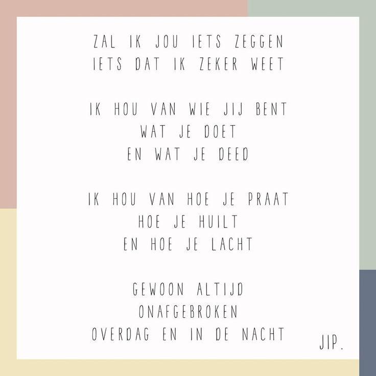 Gedichtje, versje, kaartje van gewoon JIP.