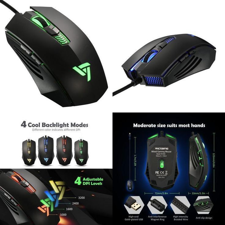 Gaming Mouse 6 Buttons Professional Wired Gaming USB Optical Laptop PC Computer