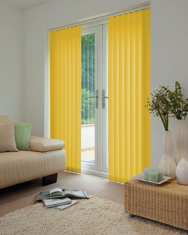 Cheapest Blinds UK | Bright Yellow Vertical Blinds