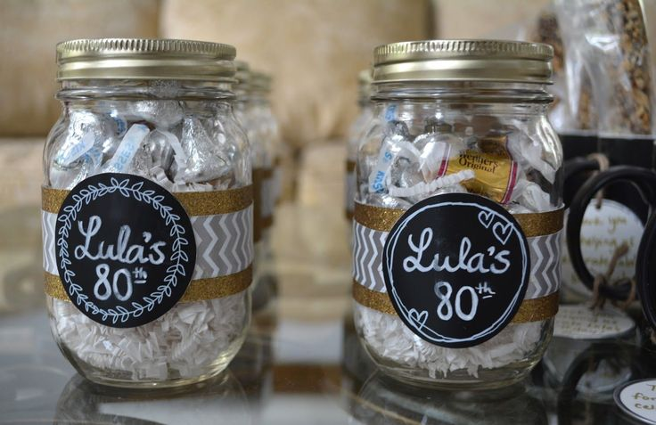 80th birthday party favors …