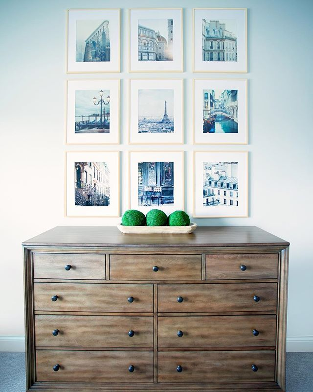 The Clean Lines And Symmetry Of This Dresser Set Up From Our