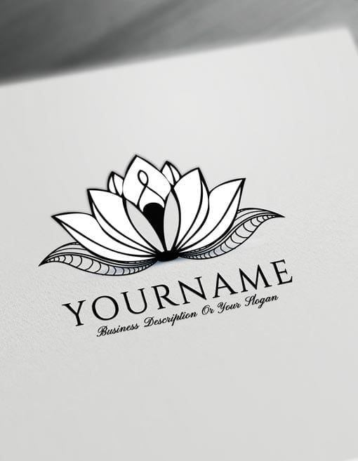 Lotus Tattoo Design Free Lotus Logo Maker Online | Fashion & Beauty ...