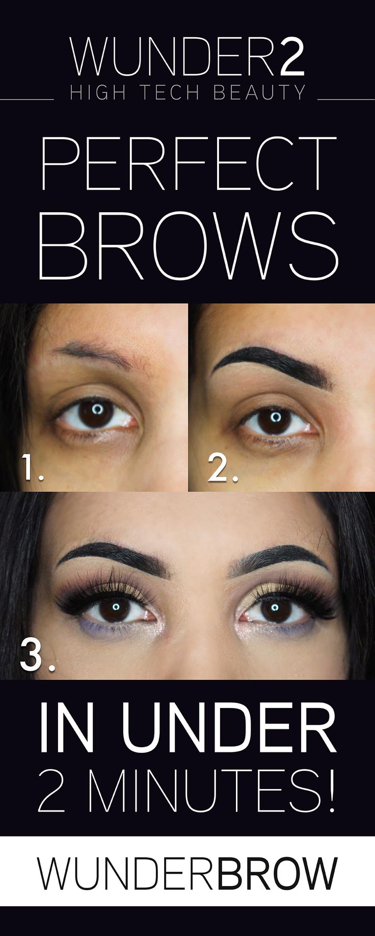 Eyebrows in under 2 minutes that will last up to 3 days without smudging or transferring! Simply apply using light, feather-like strokes to get the eyebrows you love! Why not try WunderBrow today for only $22 + FREE shipping & a 30 day risk-free money back guarantee. Simply click on the 'visit' button above. The order form takes less than 2 minutes to complete. Once done you will receive an order confirmation email. You will never want to try another eyebrow product once you've tried…