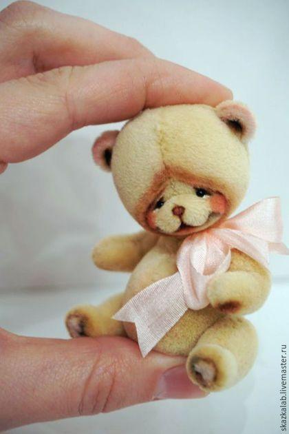 Миниатюрный мишка тедди Tummy #teddy #teddybear #toy #ooak