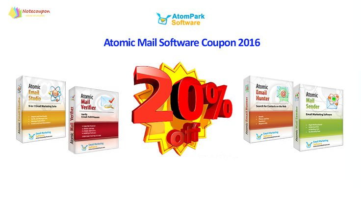 Atomic Mail Software coupon codes from Notecoupon.com are the best way to attract and retain customers to continuously come and buy the products at Massmailsoftware.com http://notecoupon.com/store/atomic-mail-software-coupon-codes