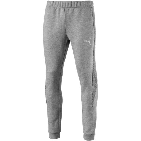 Puma Men's warmCELL Slim Pants (135 ILS) ❤ liked on Polyvore featuring men's fashion, men's clothing, grey, mens slim fit pants, mens pants, puma mens pants, mens grey dress pants and mens gray pants