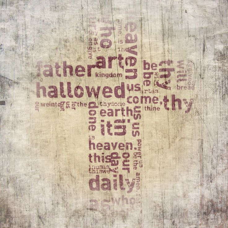 """I've used """"The Lord's Prayer"""" as political statement. The fractured background that intrudes into the beautiful words of the prayer symbolises the areas of turbulence around the globe."""