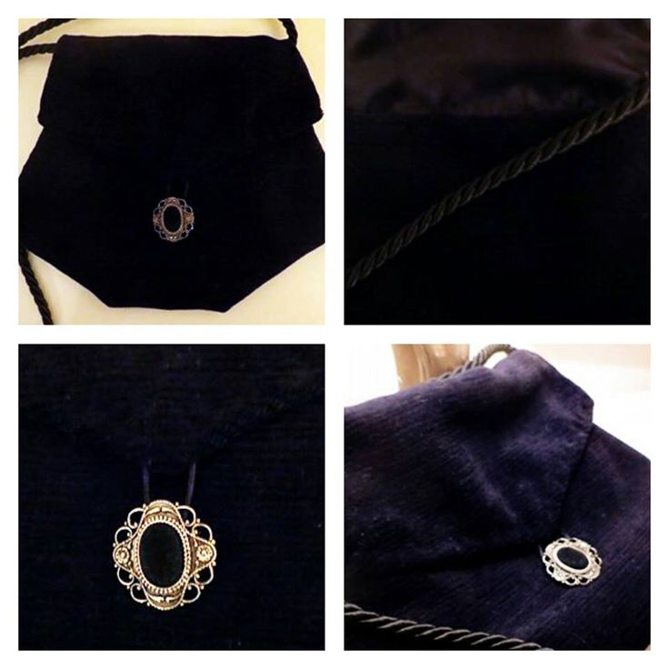 Esagonal black velvet bag
