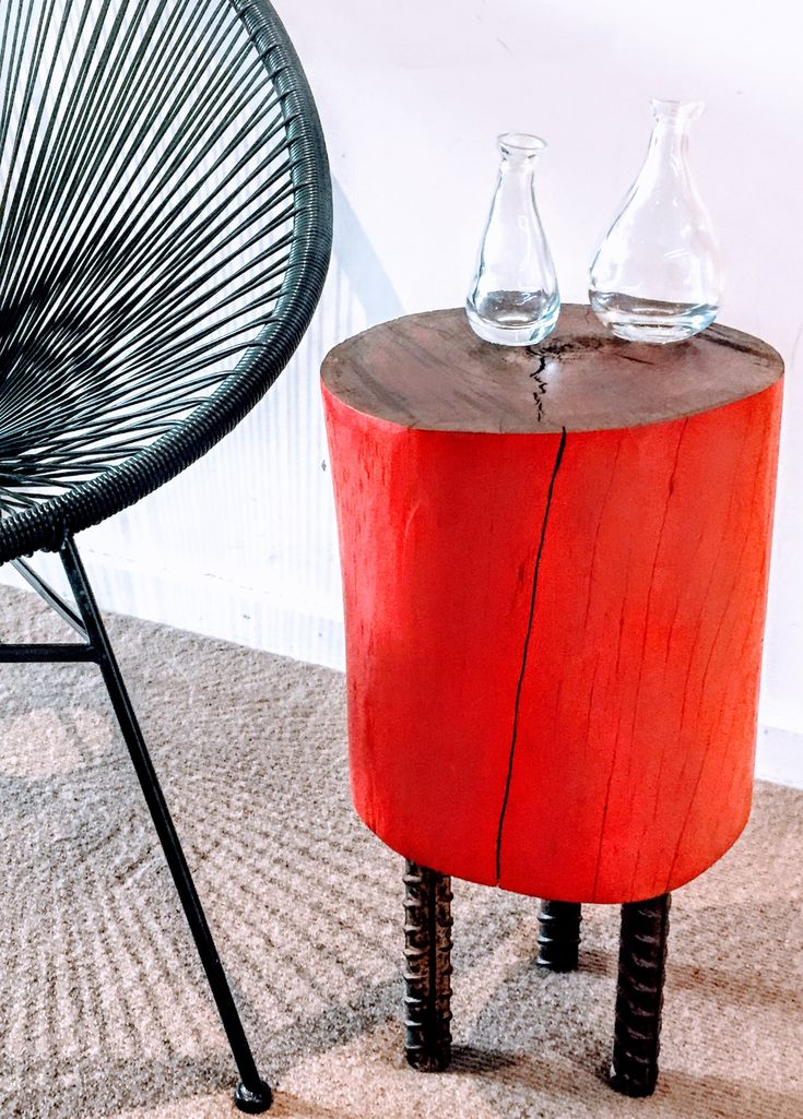 Tree trunk stump side table!!   From : @fab.signature