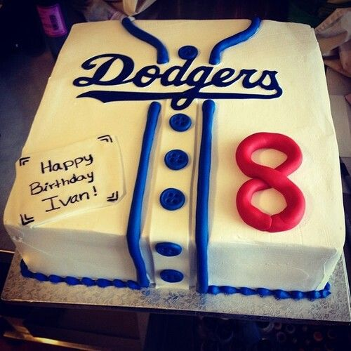 Dodgers jersey cake