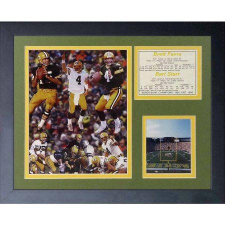 Legends Never Die Brett Favre and Bart Starr Framed Photo Collage, 11 inch x 14 inch