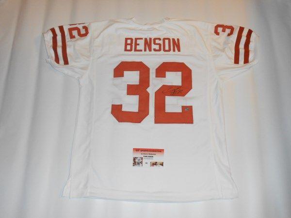 Jersey Sale Cedric Benson Authentic Nfl Jersey 32 Size Large Reebok  Cincinnati Bengals CEDRIC BENSON autographed UT Texas Longhorns Jersey ... 95aa6f131