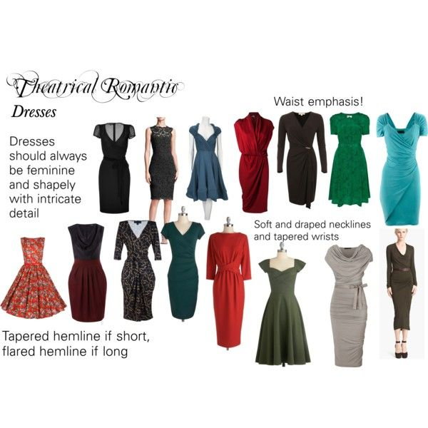 """Theatrical Romantic Dresses"" by trueautumn on Polyvore for the Hourglass - except for any high necklines."