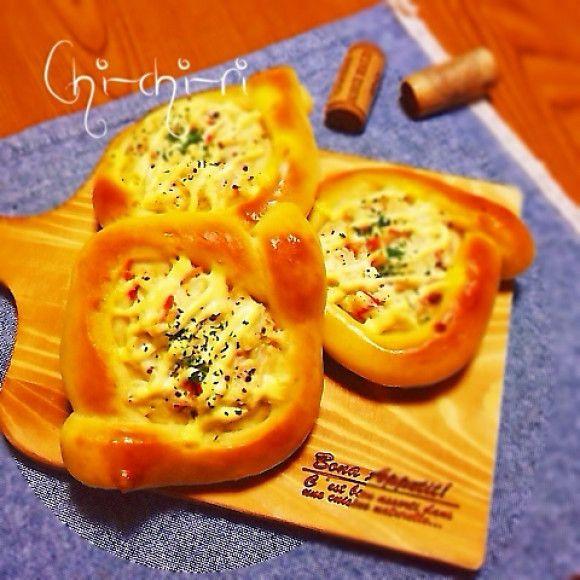 レシピあり!カニカマとクリームチーズの惣菜パン♡ | ちっちりさんの ...