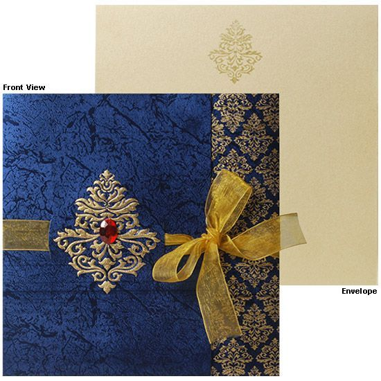 royal blue indian wedding invitations - Google Search