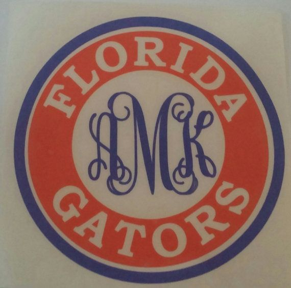 Inspired Personalized Florida Gators Decal by KissMyMonograms