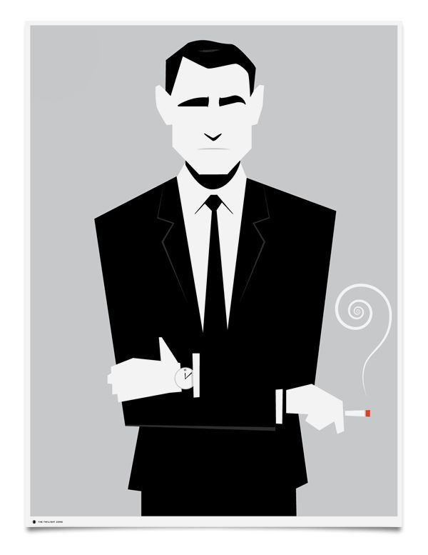 Stylish Posters for Classic CBS Shows: The Twilight Zone. Image credit: Mattson Creative