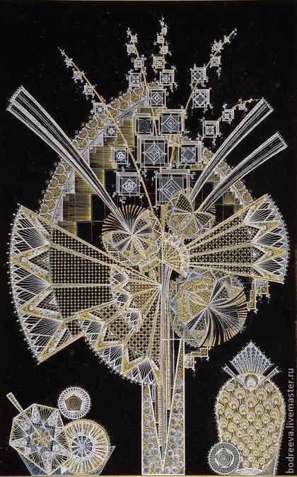 букет с ананасом - золотой,золотистый,серебряный,серебристый,интерьер
