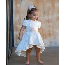 Βαπτιστικό Φόρεμα Ασύμετρο Brocarde G1 της Stova Bambini