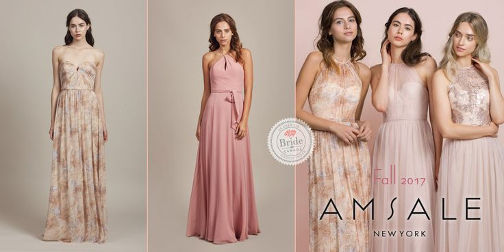Amsale Bridesmaids, Fall 2017, as seen on dressfinder.ca