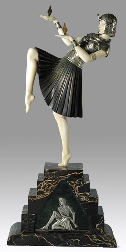 demetre chiparus art d co sculpture 39 danseuse nubienne. Black Bedroom Furniture Sets. Home Design Ideas