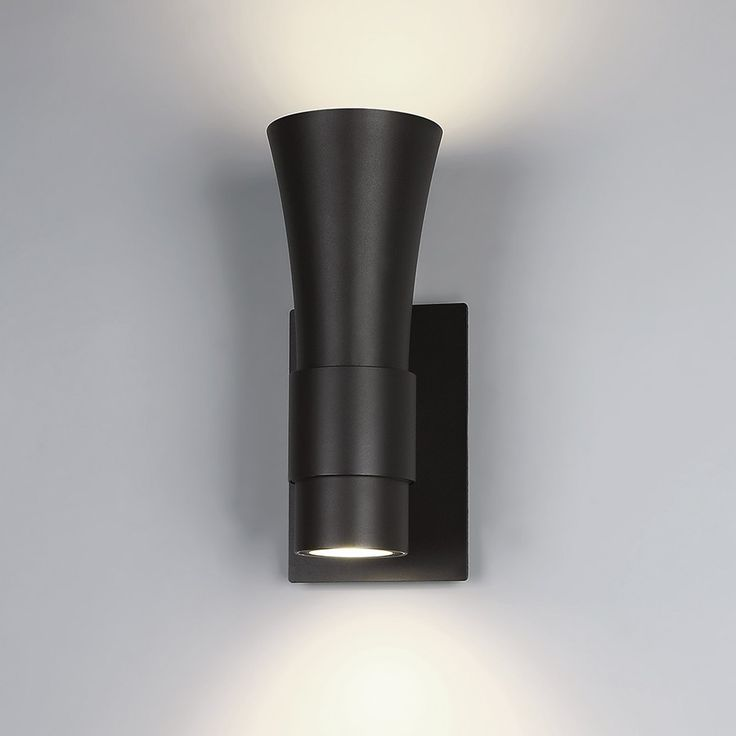 The Funnel LED Outdoor Wall Light delivers the perfect amount of light to graze a wall with an up and down light, suitable in both commercial and residential applications. http://www.ylighting.com/wac-lighting-funnel-led-outdoor-wall-light.html