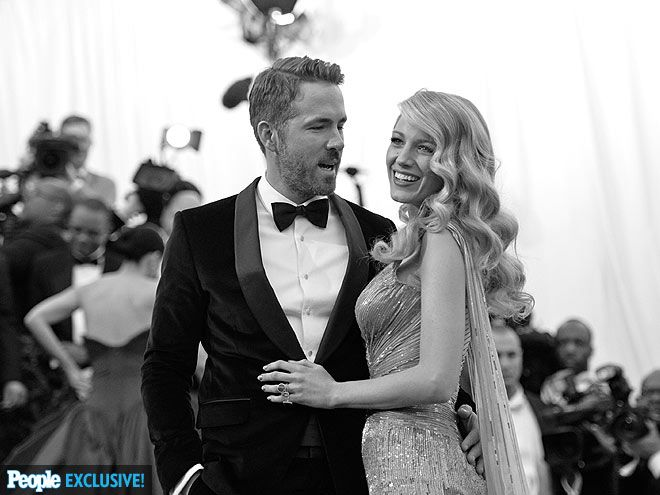 Best Candids You Haven't Seen from the Met Gala | OLD-SCHOOL GLAMOUR | Ryan Reynolds can't keep his eyes off wife Blake Lively, who channels Hollywood's Golden Age star Veronica Lake in a cascade of waves and a sequined gown.
