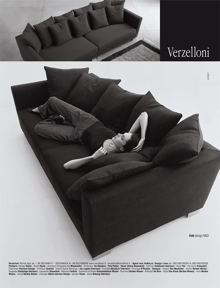 Link. Verzelloni on Elle Decoration, Elle Wonen, Ideal Heim, Eigen Huis, Panorama, G.D.A., Interni, Brava Casa, Grazia Casa, D Casa, D Repubblica, Elle Decor Italia, Atrium.