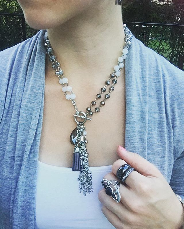 I never knew how much I loved tassels till I found this #londonfog #necklace…