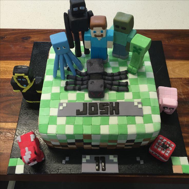 Minecraft - Handmade fondant figures
