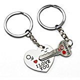 #9: Valentines Gift Key To My Heart Keychain for Him Her Girlfriend