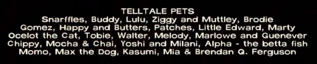 In TellTale's The Walking Dead the credits contain the names of all TellTale's staff's pets.