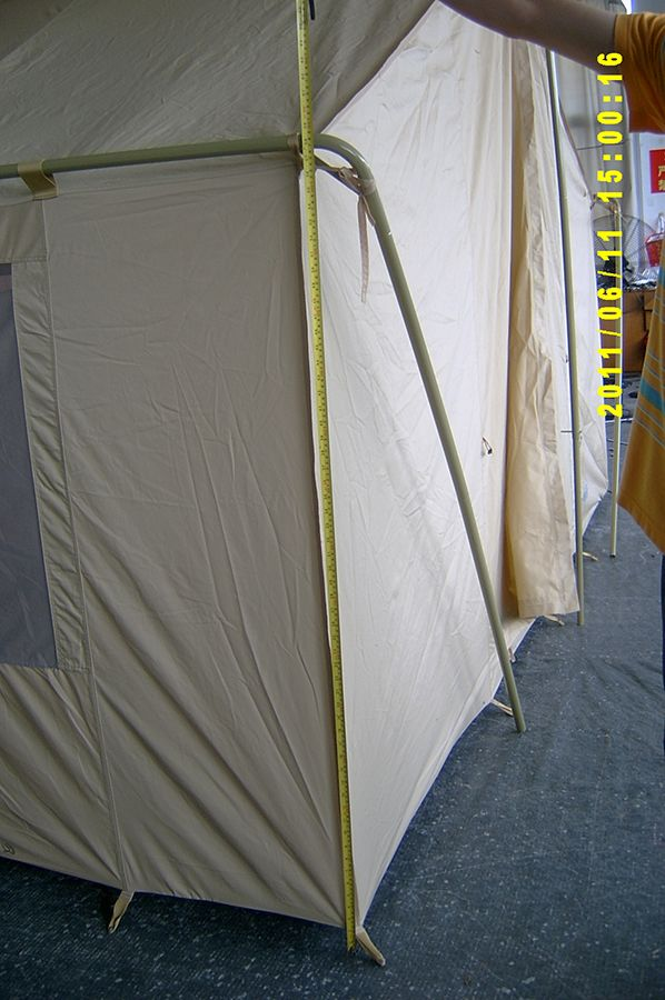 White Canvas Wall Tent >>> For more information, visit image link. #CampingTents