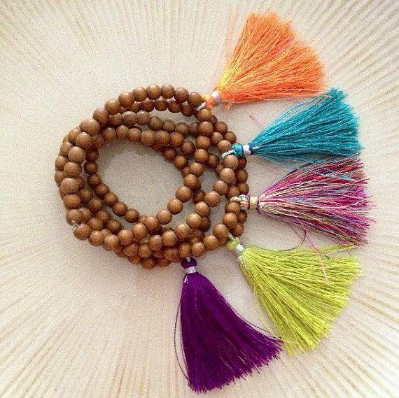 Mala Bracelet / Tassel Bracelet by BentbyCourtney on Etsy, $15.00
