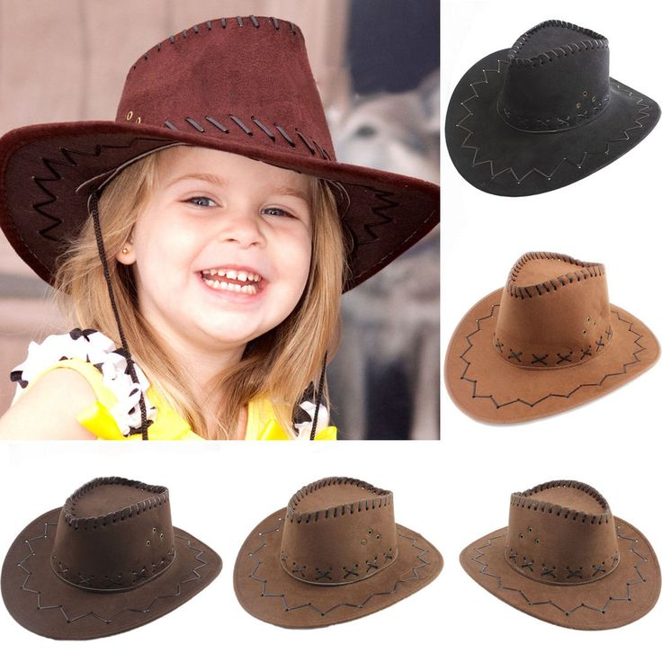 Halloween Style Western Cowgirl Cowboy Hat For Kid Boys Gilrs Party Costumes Cap #Handmade #CowboyWestern