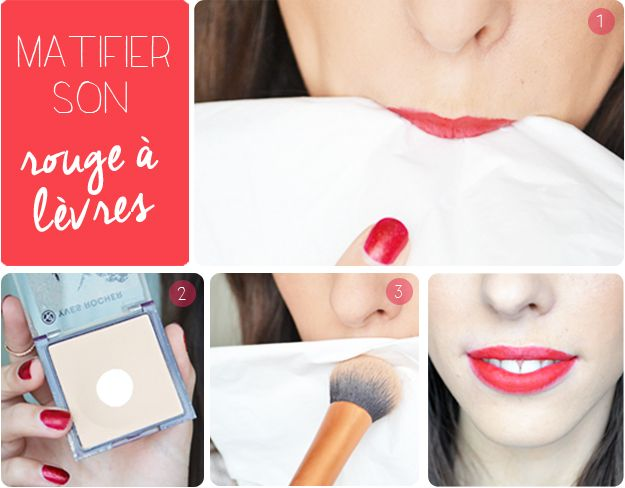 how to make your lipstick matte ? http://lejoliblog.com/2015/01/04/matifier-son-rouge-a-levres/