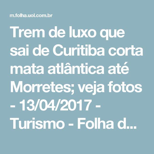Trem de luxo que sai de Curitiba corta mata atlântica até Morretes; veja fotos - 13/04/2017 - Turismo - Folha de S.Paulo