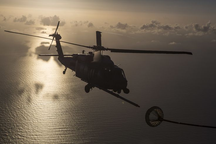https://flic.kr/p/WyZyRj | 170707-F-MH413-271 | An HH-60G Pave Hawk refuels from an HC-130P/N King enroute to rescue two German citizens in distress at sea July 7, 2017 and into July 8. The victim's vessel caught fire approximately 500 nautical miles off the east coast of southern Florida. At the request of the U.S. Coast Guard's Seventh District in Miami, the 920th RQW was alerted by the Air Force Rescue Coordination Center at Tyndall Air Force Base, Florida, to assist in the long-range…