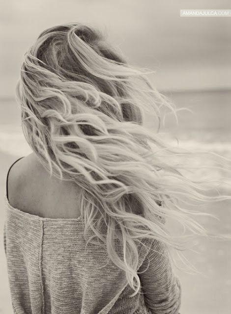 windblown beach hair