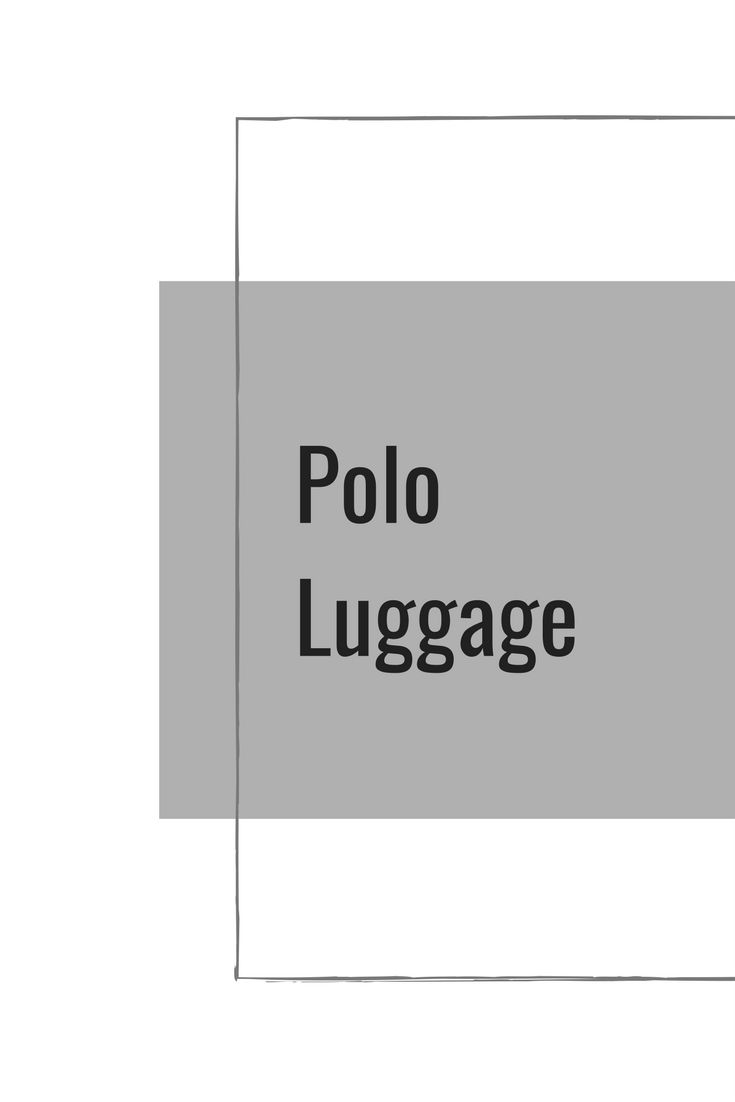 Latest Luggage Options from Polo